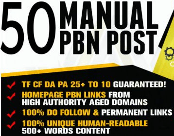 50 Manual PBN Backlinks