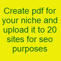 Create pdf for your niche