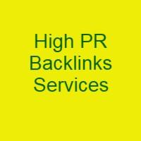 High PR Backlinks Service