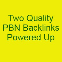 Quality PBN Backlinks